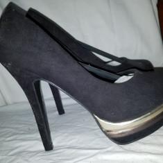 Pantofi de dama - Pantof dama, Culoare: Negru, Marime: 36, 37, 37.5, 38, 38.5, Cu toc