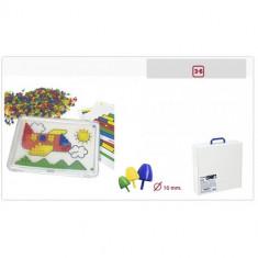 Set Didactic Mozaic 10 mm Pentru 6 Copii - Jocuri arta si creatie