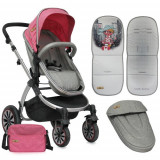 Carucior 2in1 Aurora Rose City Girl - Carucior copii 2 in 1