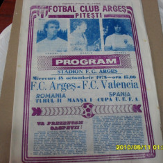 Program FC Arges - FC Valencia - Program meci
