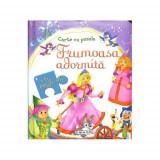 Carte cu Puzzle Frumoasa Adormita - Carte de colorat