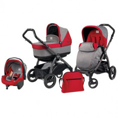 Carucior 3 in 1 Book Plus S Black POP-UP Tulip - Carucior copii 2 in 1 Peg Perego