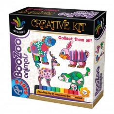 Set Creatie cu Plastilina BooZoo Animals Ursulet - Jocuri arta si creatie D-Toys