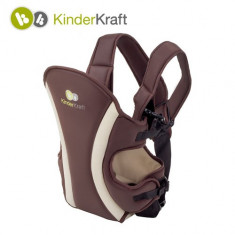Marsupiu 3 Pozitii Comfort Brown - Marsupiu bebelusi Kinderkraft