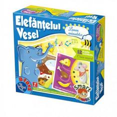 Elefantul Vesel - Lumea Animalelor - Jocuri Logica si inteligenta D-Toys