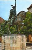 Romania - CP circulata 1973 - Alba Iulia - Monumentul lui Mihai Viteazul, Fotografie