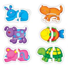 Baby Puzzle Galt Pets - Puzzle Galt cu Animale de Companie