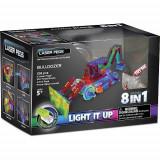 Kit Constructie cu Lumini Laser 8 in 1 - Buldozer - Roboti de jucarie