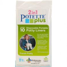 Pungi Biodegradabile de Unica Folosinta pentru Potette Plus - 10 buc/set - Reductor cada si wc