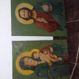 2 icoane pictate pe panza
