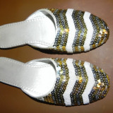 PAPUCI DE CASA - Papuci dama, Culoare: Auriu, Marime: 40