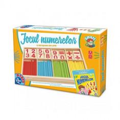 Jocul Numerelor cu Piese din Lemn - Jocuri Logica si inteligenta D-Toys