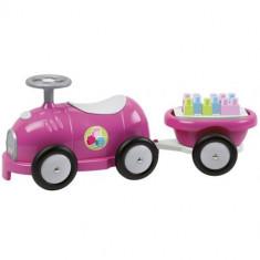 Trenulet cu Vagon si Cuburi Roz Ecoiffier