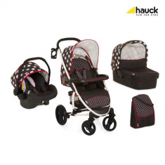 Set Carucior Malibu XL All in One Dots Black - Carucior copii 2 in 1 Hauck