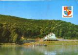 """Romania - CP circulata 1996 - Motelul """"Calinesti-Oas"""" judetul Satu-Mare, Fotografie, Satu Mare"""