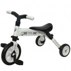 Tricicleta 2 in 1 B-Trike Alb - Tricicleta copii DHS Baby
