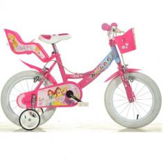 Bicicleta Princess 16 Inch Roz - Bicicleta copii Dino Bikes