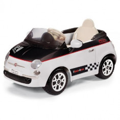 Fiat 500 White/Black - Masinuta electrica copii Peg Perego