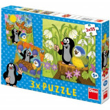 Puzzle 3 in 1 Little Mole 3 x 55 Piese