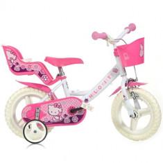 Bicicleta 12 Inch Hello Kitty - Bicicleta copii Dino Bikes