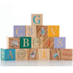 Peter Rabbit - Joc 16 Cuburi din Lemn - Jocuri Logica si inteligenta