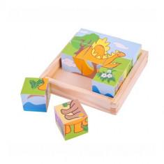 Puzzle Bigjigs Cubic - Dinozauri