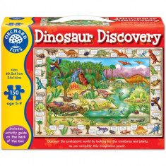 Puzzle orchard toys Lumea Dinozaurilor 150 Piese