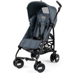 Carucior Pliko Mini Blue Denim - Carucior copii 2 in 1 Peg Perego