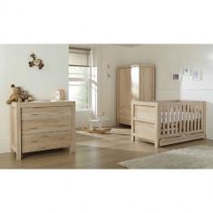 Set Mobilier Milan Reclaimed Oak 3 Piese - Patut Comoda Dulap - Set mobila copii