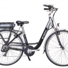 ZT-75- Bicicleta electrica cu cadru Aluminiu - Bicicleta electrice, 20 inch, 28 inch, Numar viteze: 7, Negru