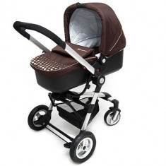Carucior 3 in 1 Kraft Brown - Carucior copii 2 in 1 Kinderkraft