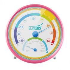 Termo Higrometru U201TH Roz - Termometru copii