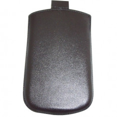 Husa TelOne Special piele neagra pentru telefon Samsung S3350 Chat 335 - Husa Telefon
