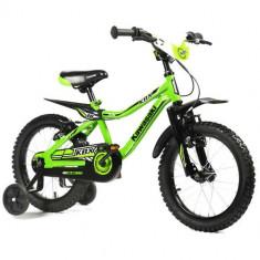 Bicicleta Kawasaki KBX Green 14 - Bicicleta copii