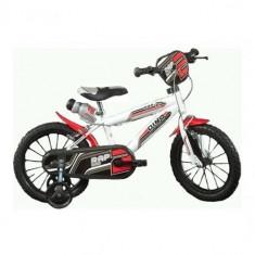 Bicicleta 414U, 14 inch Alb - Bicicleta copii Dino Bikes