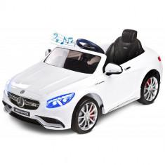 Vehicul Electric Mercedes-Benz S63 AMG 12V WHITE - Masinuta electrica copii