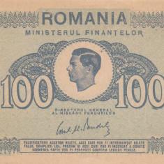 ROMANIA 100 lei 1945 XF+++!!! - Bancnota romaneasca
