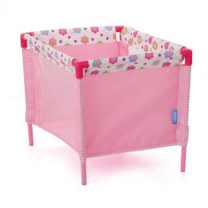 Tarc Papusi Doll Play Yard Spring Pink cloned Hauck