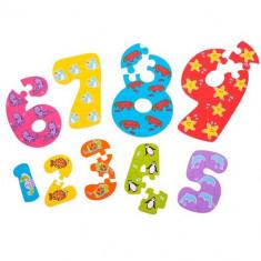 Puzzle Bigjigs-ul Cifrelor 1 - 9
