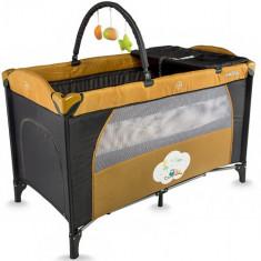Patut Twinkle Bej - Patut pliant bebelusi DHS Baby, 120x60cm, Crem