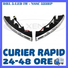 DRL ZDM 5-LED 1W - NSSC 523HP - DAYTIME RUNNING LIGHT - LUMINI DE ZI, Universal