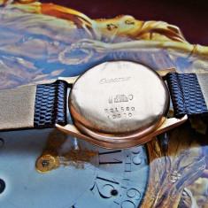Ceas aur 18k cronograf - Ceas barbatesc, Elegant, Mecanic-Manual, Piele