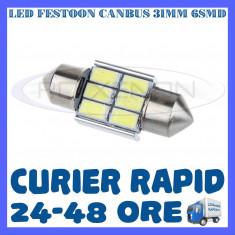 BEC AUTO LED LEDURI - SOFIT FESTOON C5W 31 mm 6 SMD CANBUS FARA EROARE - NUMAR - Led auto ZDM, Universal