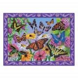 Set de Creatie Mozaic pe Numere Peisaj cu Fluturi - Jocuri arta si creatie