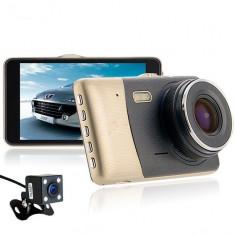 Resigilat! Camera auto Dubla DVR iUni Dash 401, Full HD, 4 Inch, 170 grade - Camera video auto iUni, Double