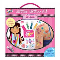 Glitter Tattoo - Kit Tatuaje cu Sclipici - Jocuri arta si creatie Galt