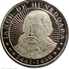 ROMANIA 50 bani 2016 - Iancu de Hunedoara - UNC - Moneda Romania, Alama