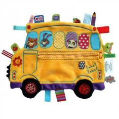 Minipaturica Holiday - School Bus - Jucarie pentru patut