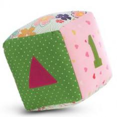 Jucarie Textila Pink Cube - Jucarie pentru patut