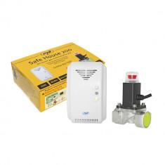 Resigilat : Kit PNI Safe House 200 senzor gaz si electrovalva 3/4 Inch - Sisteme de alarma